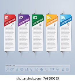infographic design and marketing icons vector. Business concept