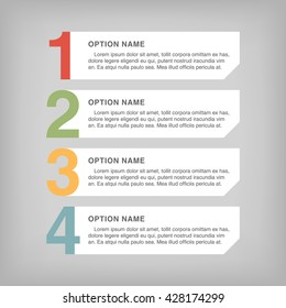 Infographic design, options concept. Template for Business presentation. Vector illustration