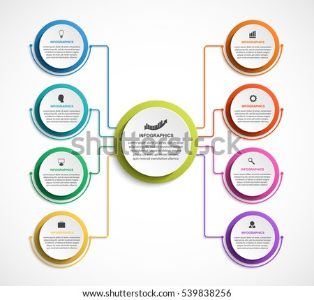 Organization Chart Template   Infographic Design Organization Chart Template Stock Vektorgrafik