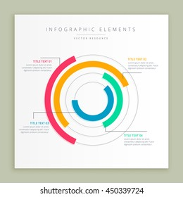 infographic design showing circular graph