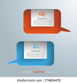 Infographic design with speech bubbles holes on the gray background. Eps 10 vector file.
