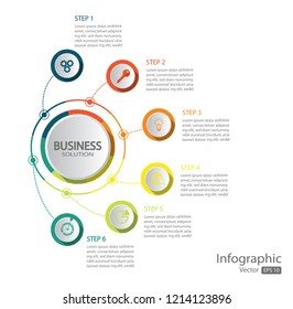 Infographic design template can be used for workflow layout, diagram, number options, web design.