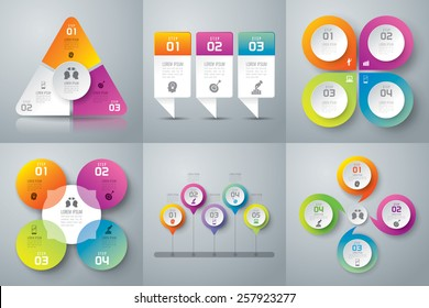 Infographic design template can be used for workflow layout, diagram, number options, web design. Business concept with 3, 4 options, parts, steps or processes. Abstract background.