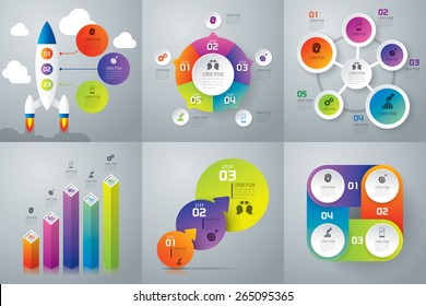 Infographic design template can be used for workflow layout, diagram, number options, web design. Business concept with 3, 4, 5 options, parts, steps or processes. Abstract background.