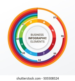Infographic design template can be used for workflow layout, diagram, number options, web design. Business concept with options, parts, steps or processes. Abstract background.