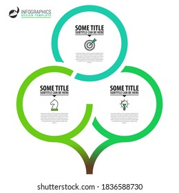 Infographic design template. Creative concept with 3 steps. Can be used for workflow layout, diagram, banner, webdesign. Vector illustration