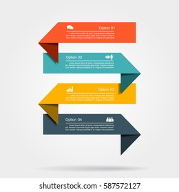 Infographic design template with elements and icons. Vector illustration.