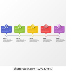 Infographic design template with option or step for business presentation