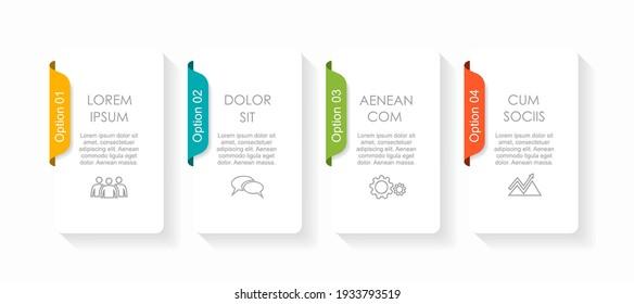 Infografische Design-Vorlage mit Platz für Ihre Daten. Vektorgrafik.