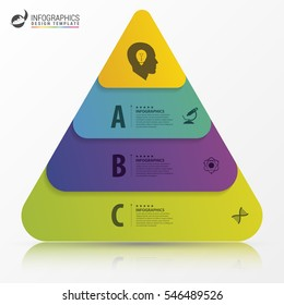 Infographic design template. Pyramid concept. Vector illustration