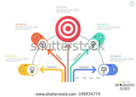 Infographic Design Template Tree Diagram Fan Stock Vector Royalty