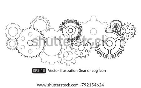 infographic design template vector gears cogs gear stock vector
