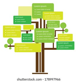 Infographic design, tree template for business and education concept