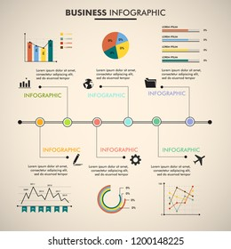 Infographic design vector can be used for workflow layout, diagram, annual report, web design