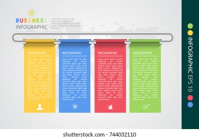Infographic design vector illustration, template for brochure, business marketing icon concept.