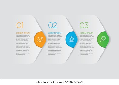 Infographic design vector and marketing icons can be used for workflow layout, diagram, annual report, web design.  Business concept with 3 options, steps or processes. - Vector