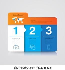 Infographic design vector and marketing icons can be used for workflow layout, diagram, annual report, web design. Business concept with 3 options, steps or processes.