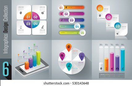 Infographic design vector and marketing icons can be used for workflow layout, diagram, annual report, web design. Business concept with 3, 4 and 5 options, steps or processes.