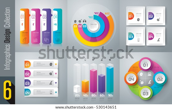 Infographic design vector and marketing icons can be used for workflow layout, diagram, annual report, web design. Business concept with 3 and 4 options, steps or processes.