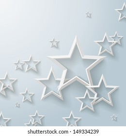 Infographic design with white stars on the grey background. Eps 10 vector file.