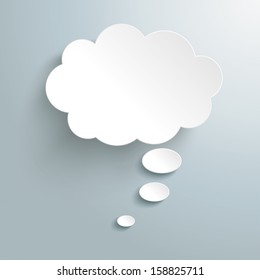 Infographic design white thought bubble on the grey background. Eps 10 vector file.