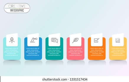 Infographic Diagram design with step process flowchart for Business and presentation timeline template