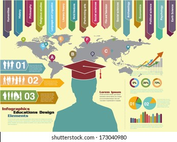 infographic education, element eps vector