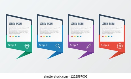 infographic element with 3 steps, options, processes, or parts. business presentation template vector.
