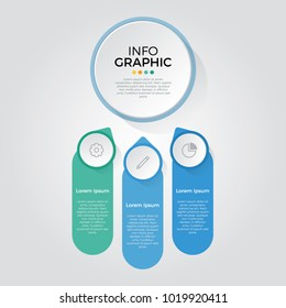 infographic element vector with 3 number options, can be used for step, workflow, diagram, banner, process, business presentation template, web design, price list, timeline, report.