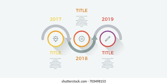 infographic element vector with 3 options, steps, process can be used for workflow, diagram, business presentation template, timeline, report.