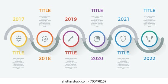 infographic element vector with 6 options, steps, process can be used for workflow, diagram, business presentation template, timeline, report.