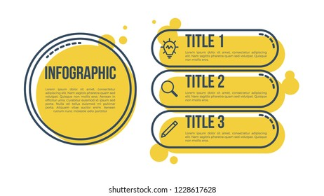 infographic element vector, can be use for business presentation template, business concept with 3 steps, options, processes, parts.