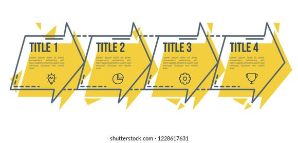 infographic element vector, can be use for business presentation template, business concept with 4 steps, options, processes, parts.