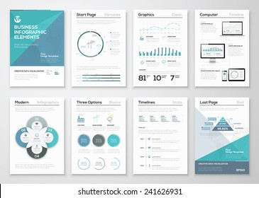 Infographic elements for business brochures and presentations. Ecology concept to visualize environmental concept. Fully editable vector illustration.