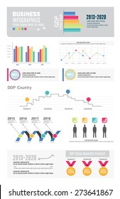 Infographic Elements BUSINESS GDP Colorful