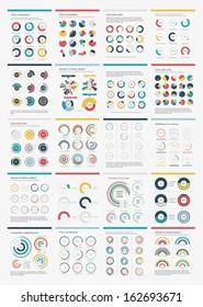 Infographic Elements.Big chart set icon.