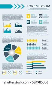 Infographic Elements Collection - business vector illustration for presentation, booklet, website, blog, workflow layout, brochure, banner, card, step up options, web design, poster, flyer, timeline.