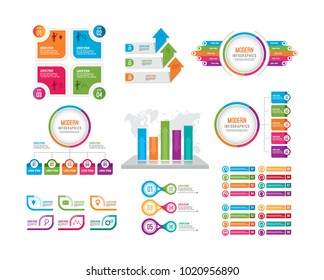 Infographic elements set based vector image with various object and colorful that help you to build your infographic