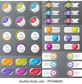 Infographic elements set. Workflow layout, diagram, annual report, web design, presentation. Business concept with options, parts, steps or processes. Infographic background. Vector illustration