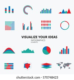 Infographic Elements. Visualise your ideas. Vector illustration