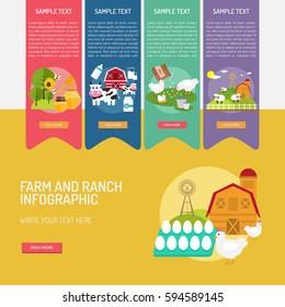 Infographic Farm and Ranch