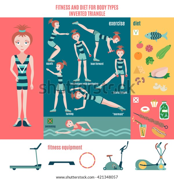 Infographic Fitness Diet Body Type Inverted Stock Vector (Royalty