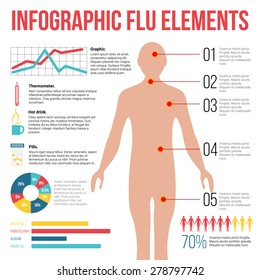 Infographic Flu elements. Icons and graph elements.