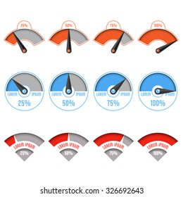 Infographic gauge chart elements
