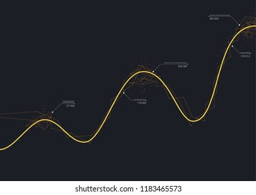 Infographic Graph Chart Vector Illustration