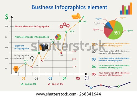 Infographic Graph Websites Banners Models Etc Stock Vector Royalty