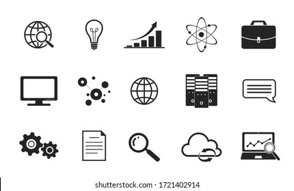 infographic icons and elements. technology and business symbols for web design