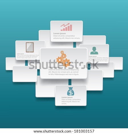 Infographic Label Template Design Stock Vector (Royalty Free