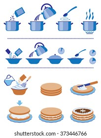 Infographic for manuals on a packing. Set of a vector signs