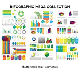 Infographic mega collection. vector
